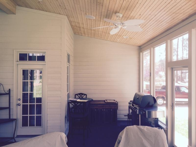 Screened Porch Before