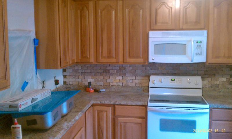 During - Countertops and backsplash